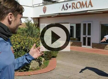 Pallotta abbraccia Francesco Totti. (Video)