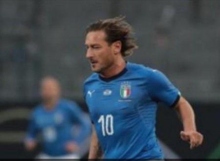 Totti migliore in campo con gol e assist .Azzurri Legends, 3-3 con la Germania: