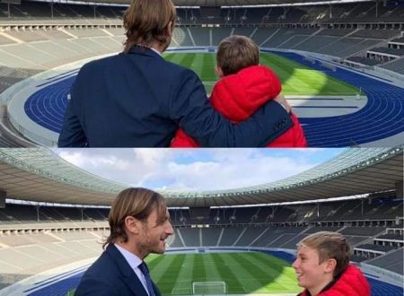 TOTTI All'Olympiastadion 13 anni dopo il Mondiale con Cristian: cielo azzurro sopra Berlino (VIDEO)